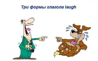 Глагол to laugh — 3 формы, перевод, примеры предложений