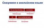 Сказуемое в английском языке: виды с примерами