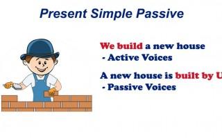 Present Simple Passive — страдательный залог в настоящем простом времени