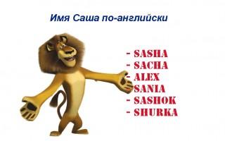 Имя Саша по-английски — варианты написания, перевод, аналог в английском