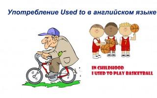 Употребление Used to в английском языке — правила, примеры