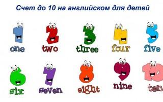 Счет до 10 на английском для детей и счет свыше 1000 для взрослых