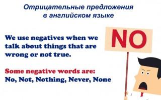 Отрицательные предложения в английском языке: варианты построения