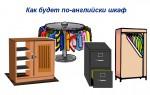 Как будет по-английски шкаф — разница между cupboard, wardrobe и closet