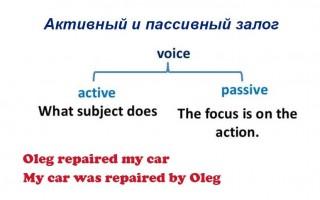 Активный и пассивный залог в английском языке: значение и способы образования