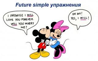 Future simple упражнения на грамматику аспекта