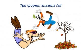 Три формы неправильного глагола fall — грамматика, перевода, употребление