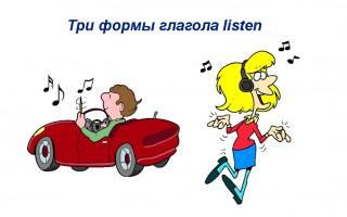 Три формы глагола listen — нюансы употребления, примеры