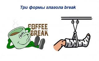 Три формы глагола break — перевод, значения, примеры предложений