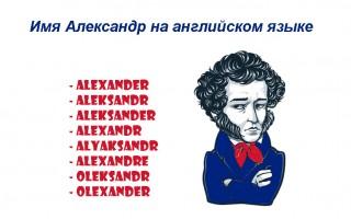Имя Александр на английском языке — пишем и произносим правильно