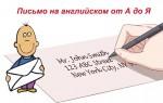 Письмо на английском от А до Я: подробные объяснения, речевые клише + образец с переводом