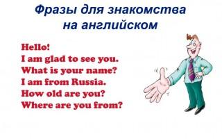Фразы для знакомства на английском или как начать диалог