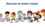Лексика по теме спорт на английском языке