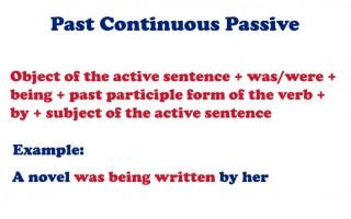 Past Continuous Passive: страдательный залог прошедшего длительного времени