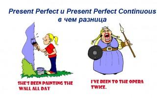 В чем разница между Present Perfect и Present Perfect Continuous
