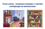Учим слова — названия комнат на английском языке, внутренняя часть дома