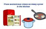 Учим английские слова на тему кухня — онлайн карточки для детей и новичков