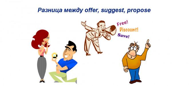 В чем разница между offer, suggest и propose — оттенки значений и применения