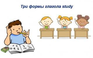 Три формы глагола study — русский перевод, примеры предложений