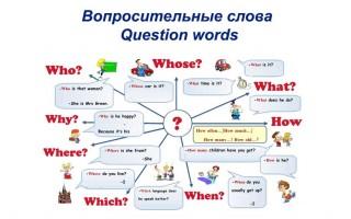Вопросительные слова в английском языке (Question words)