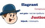 Слова flagrant, Justice, conspicuously — пополняем словарный запас