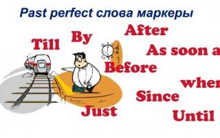 Past perfect слова маркеры для употребления данной конструкции