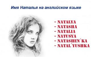 Имя Наталья на английском языке — как пишется и произносится