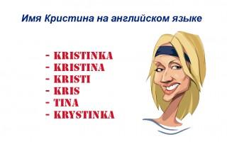 Имя Кристина на английском языке — как пишется и произносится