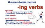 Инговая форма глагола в английском языке: правила, исключения, примеры