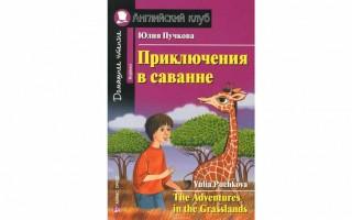 Книга Приключения в саванне на английском языке — адаптация для начинающих
