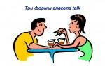 Три формы глагола talk — перевод, примеры предложений