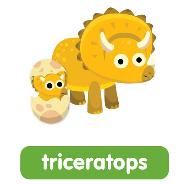 triceratops in english