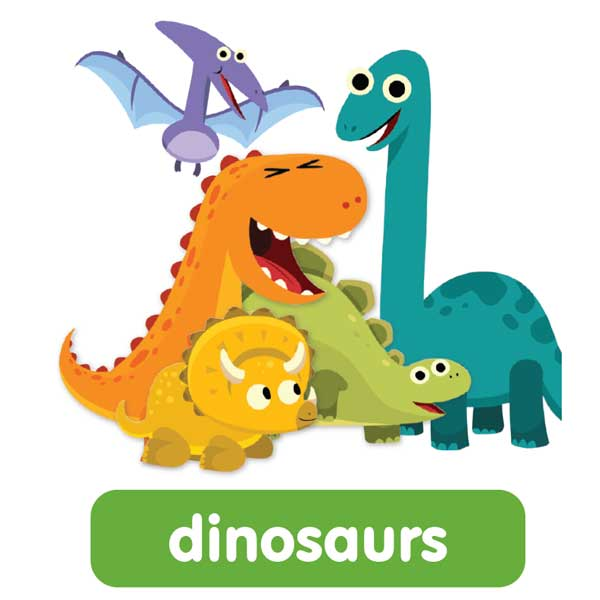 dinosaurs in english
