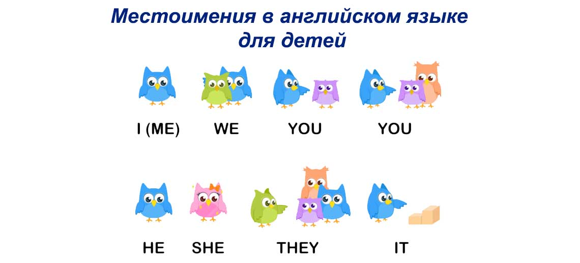 Местоимения в английском языке для детей