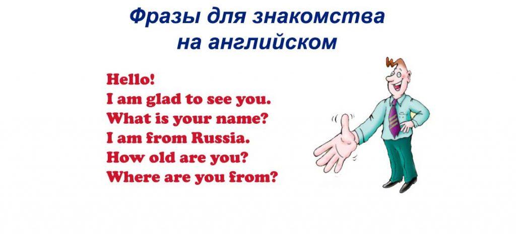 Фразы для знакомства на английском