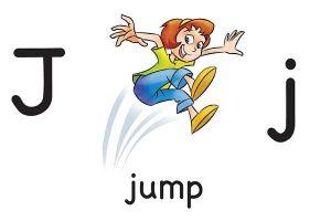 Карточка на английском jump