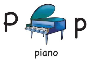 Карточка на английском piano