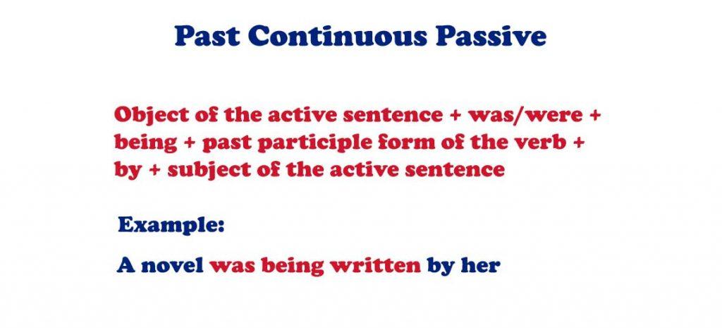 Past Continuous Passive