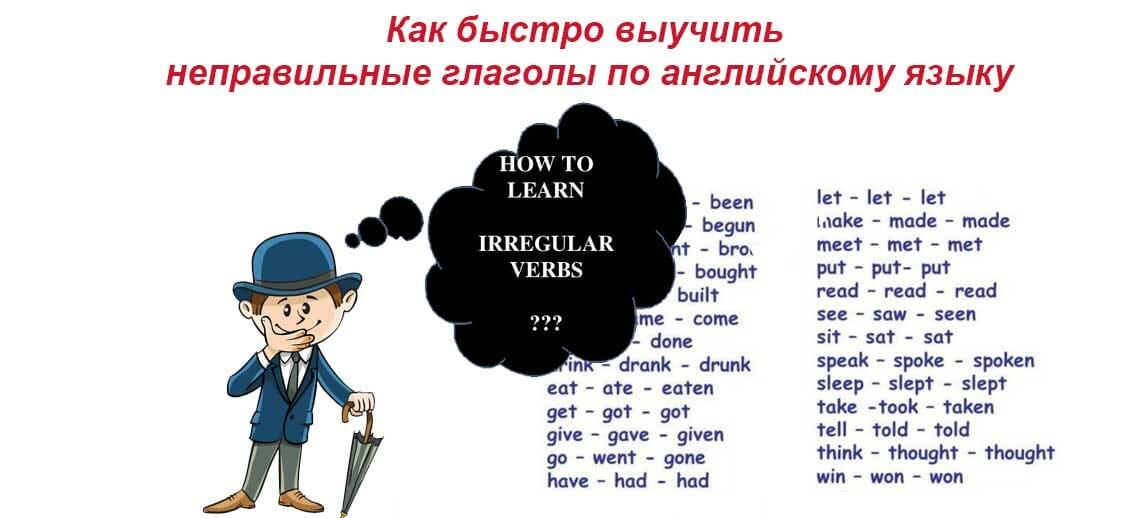 Неправильные английские глаголы 3 формы с переводом