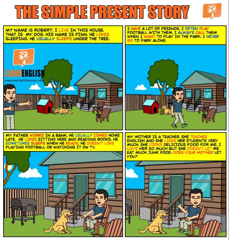 Present Simple comics