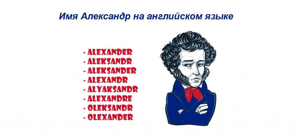 Имя Александр на английском языке