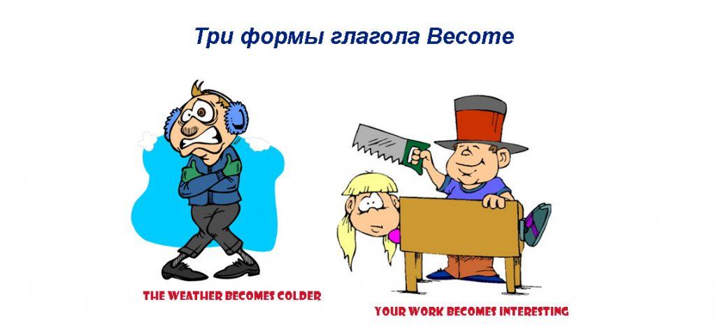 Become 3 формы глагола