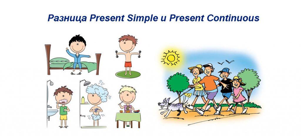Present Simple Present Continuous - отличие, правила, примеры