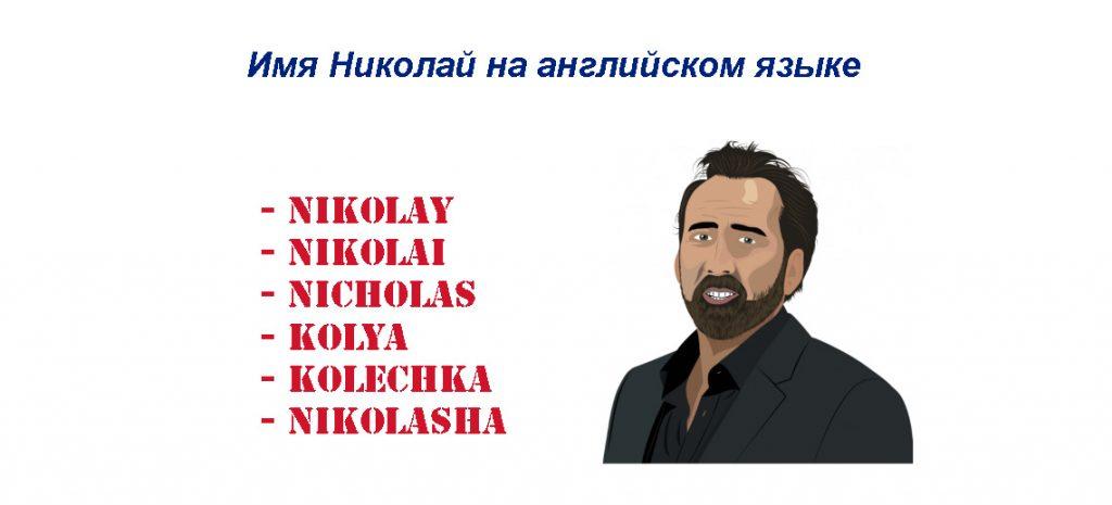 имя Николай на английском языке