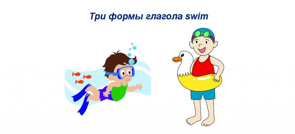 Swim 3 формы глагола - грамматика, примеры предложений