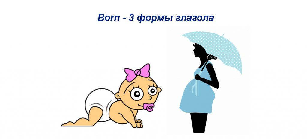 born - 3 формы глагола