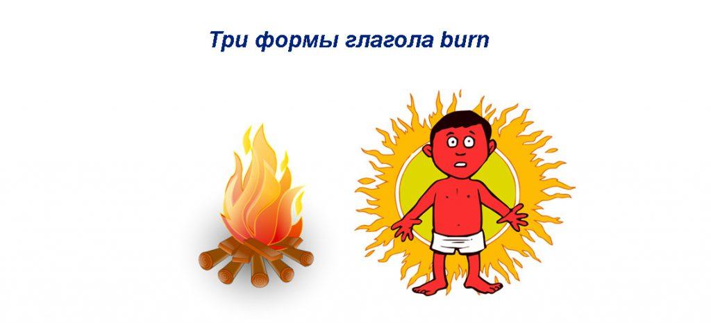 Burn 3 формы глагола в разных временах