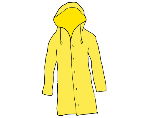 Плащ или дождевик по-английски - raincoat [ˈreɪnkəʊt]