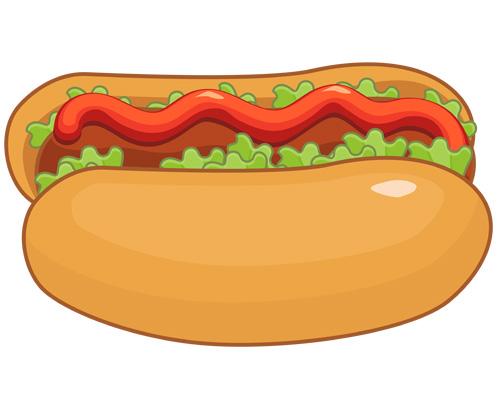 Бутерброд с сосиской -a hot dog