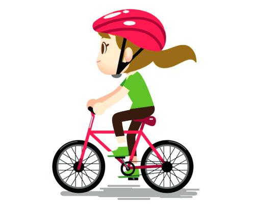 Катание на велосипеде по-английски - cycling [ˈsaɪklɪŋ]